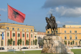 Square Skanderbeg In Tirana