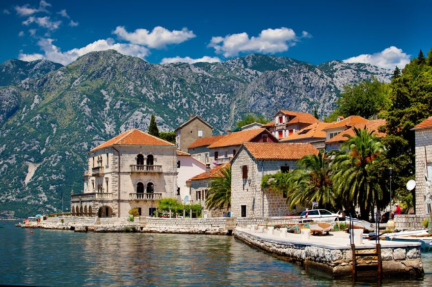 12948074 - the landscape of perast town in montenegro